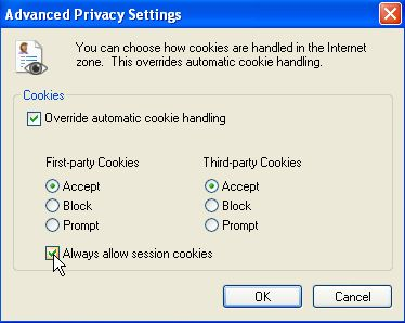 how to allow cookies on my browser